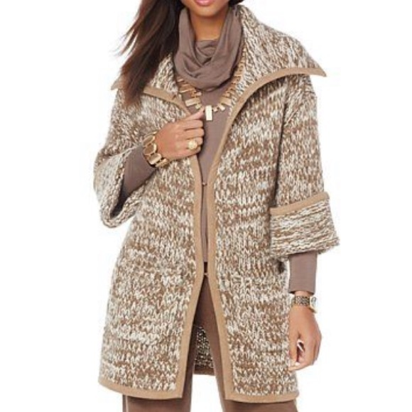MarlaWynne Jackets & Blazers - MarlaWynne Oversized Knit Sweater Coat